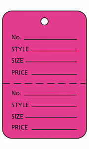 Unstrung Pink Flamingo Perforated Coupon Price Tags 1 W X 2 h 1 000