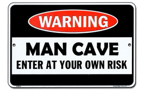 Warning Man Cave Enter At Own Risk Signs Garage Decor Gas Oil Can Bar Shop Dad