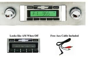 1963 1964 Chevy Impala Am Fm Stereo Radio Free Aux Cable 230