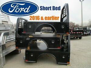 Ford 2016 And Earlier Short Bed Cm Sk Flatbed Replacement Body 4 Tool Boxes