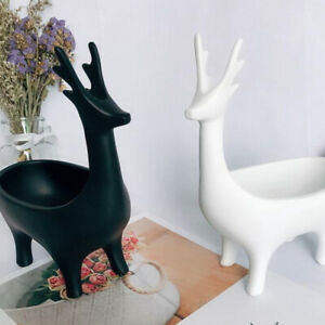 Black Display Jewelry Tree Deer Stand Holder Rack Show Earring Necklace Ring