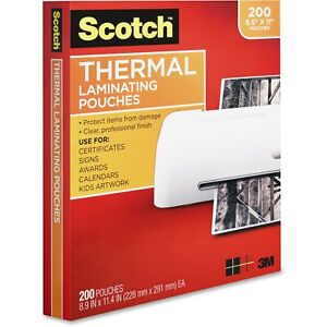 Scotch Front And Back Thermal Laminating Pouches Letter Size Tp3854 200