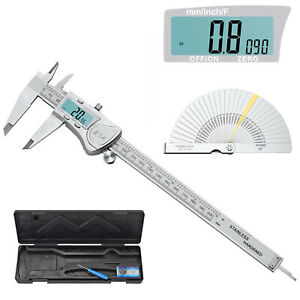 200mm 8 Digital Vernier Caliper Ip54 Waterproof Measuring Tool Stainless Steel