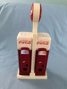 Coca-Cola Salt and Pepper Shakers Plastic with Stand