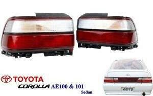 New 91 95 Ae100 Ae101 E100 Corolla Sedan Rear Kouki Tail Lamp Lights 1 Pair