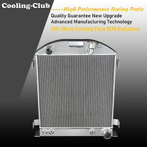 Fit 33 38 Ford Model T Chevy Engine 3 Row Aluminum Radiator 17 Height Core