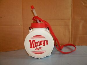 Vintage Wendy's Log Coca Cola  Water Bottle  Coke Weird Shaped