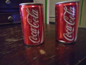 coca cola salt and pepper shakers 2014 homemade cans from Italy