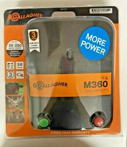 Gallagher M360 Electric Fence Energizer 250 Acres 55 Mi New Item Opened Box