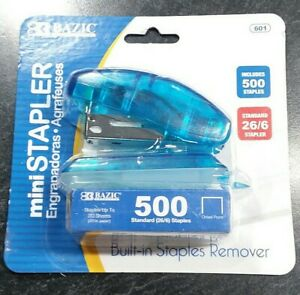 Mini Stapler And 500 Staples Standard Size Home School Office Free Usa Ship