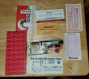 Starrett No 220a rl 30738 Micrometer In Box