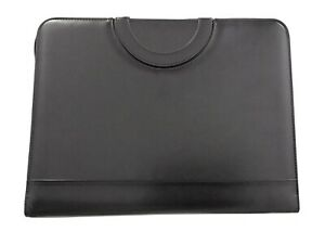Portfolio Organizer With 3 ring Binder Leatherette Faux Leather