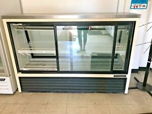 Commercial Deli Refrigerator Cooler Case Display Fridge Pastry 2 Sliding Door