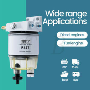 120at Fuel Filter Water Separator R12t With Fuel Fitting For Boat Marine Spin on