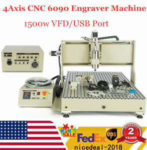Usb 4axis Cnc 6090 Router Engraver Cutting 3d Milling Drilling Machine 1 5kw Top