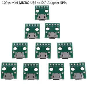10pcs Micro Usb To Dip Adapter 5pin Female Connector Pcb Converter Board G3