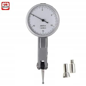 030 Dial Test Indicator High Precision 0 0005 Graduation 0 15 0 White Face Us