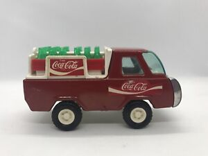 Vintage Buddy L Coca Cola Red Delivery Truck with Crates Bottles Die cast