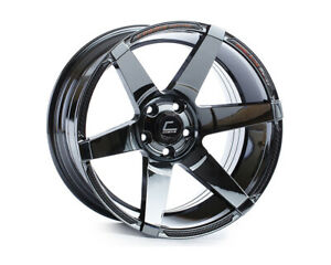 Cosmis Racing S1 18x9 5 15mm 5x114 3 Black Chrome Rim Wheel