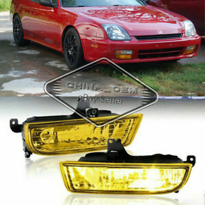 For 1997 1998 1999 2000 2001 Honda Prelude Fog Lights Bumper Lamps switch Yellow