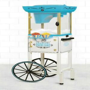 Large Snow Cone Cart Ice Shaving Vintage Machine Shaved System Maker 48 Icy Trea