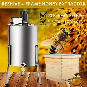 Complete Bee Hive 10 frame 1 Deep Box 1 Medium Box And 4 Frame Honey Extractor