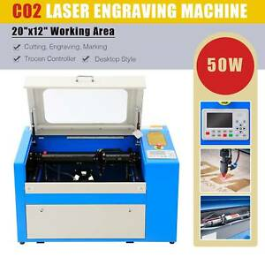 Omtech 50w 20 x12 Co2 Laser Cutting Engraving Machine Cutter Engraver Trocen