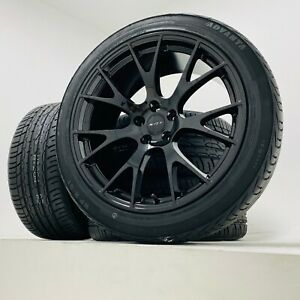 20 Black Hellcat Staggered Wheels Rims Tires Dodge Charger Challenger Magnum
