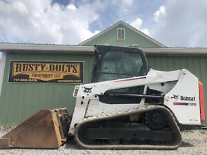 2017 Bobcat T550 Track Skid Steer Loader Enclosed Ac Clean Low Cost Shipping