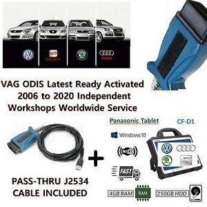 Latest Dealer Odis Diagnostics 2020 Vw Audi J2534 Passtrhu Cfd1 Toughbook 6 1