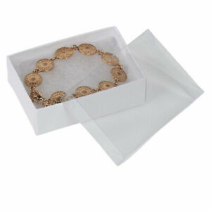 Cotton Filled Jewelry Boxes White Vu top 3 1 16 X 2 X 1 case Of 100