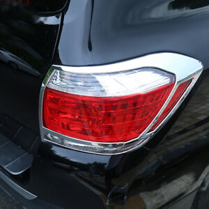 Chrome Rear Tail Lamp Tail Light Cover 2pcs For Toyota Highlander 2011 2013