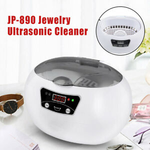 600ml Ultrasonic Jewelry Cleaner Cleaning Machine Nail Tools Sterilizer Jp 890