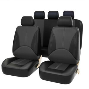 Pu Leather Car Seat Covers 9 Pieces Front Rear Full Interior Accessories