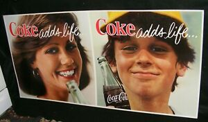 COCA COLA SIGN AUTHENTIC 1960s DELIVERY TRUCK CARDBOARD Coke adds life...