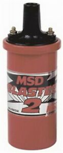 Msd 8202 Ignition Coil Blaster 2 Red Canister Oil Filled 0 700 Ohm Female Socket