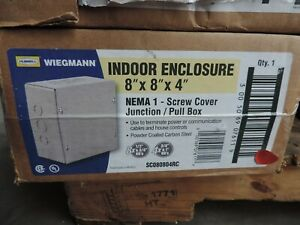 Wiegmann Nema 1 8x8x4 Screw Cover Junction pull Box