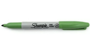 Sharpie Fine Point Permanent Marker Argyle Green 1 Each