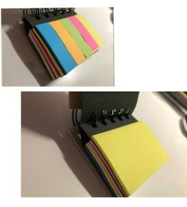 Sticky Notes Set blue Orange Green Pink Yellow Colors