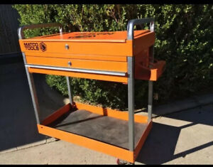 Matco Service Cart With Hinged Top And Sliding Drawer Used Refurbished