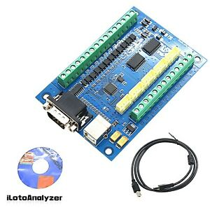 Mach3 Cnc Motion Control Card 5 Axis Cnc Breakout Board For Cnc Engraving12 24v