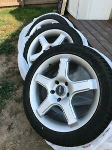 17 Inch Mb 14 Wheels With Champiro Ice Pro Snow Tires 225 45r17