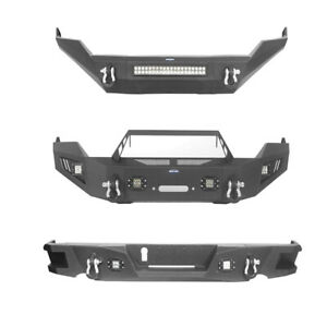Fit 2013 2018 Dodge Ram 1500 Front Bumper Rear Step Bumper W Winch Plate