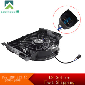 For 00 06 Bmw E53 X5 5 Blade A C Ac Radiator Condenser Cooling Fan 64546921381
