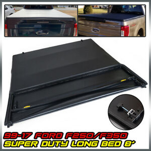 8ft Bed Vinyl Assembly Four Fold Tonneau Cover Kit For 1999 2017 Ford F250 f350