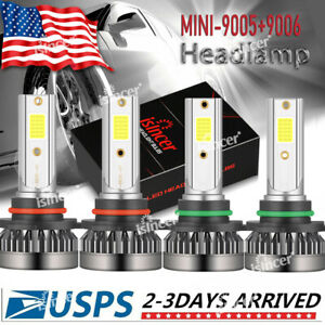 Isincer 9005 9006 Combo Led Headlight Kits 120w High Low Beam Bulbs 6000k White