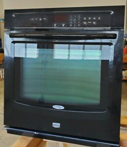 Maytag 27 Electric Wall Oven Black Good Working Condition Model Mew7527ab01