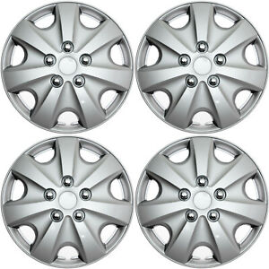 Set Of 4 Hub Caps Wheel Cover Universal Caps Fit Most 15 Inch Rims Skin Covers
