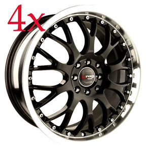 Drag Wheels Dr 19 16x7 4x100 Black Rims For Corolla Honda Crx Del Sol Neon