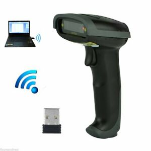 2 4ghz Usb Wifi Handheld Wireless Laser Cordless Barcode Scanner Scan Gun Reader